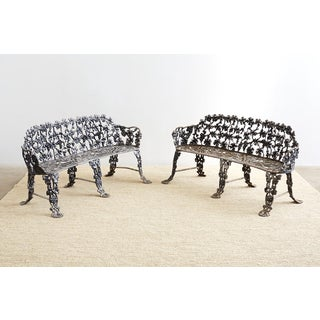 Pair of Neoclassical Cast Aluminum Garden Benches Preview