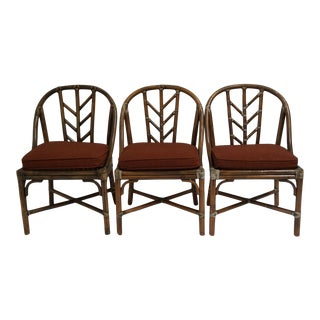 Vintage McGuire Bamboo Chairs- Set of 4 For Sale
