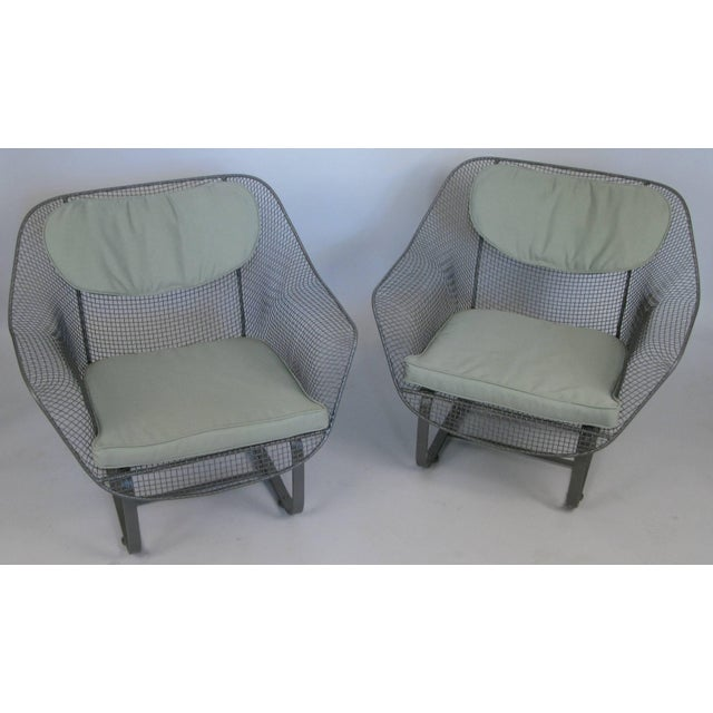 Metal Pair of Russell Woodard 1950s Sculptura Lounge Chairs For Sale - Image 7 of 9