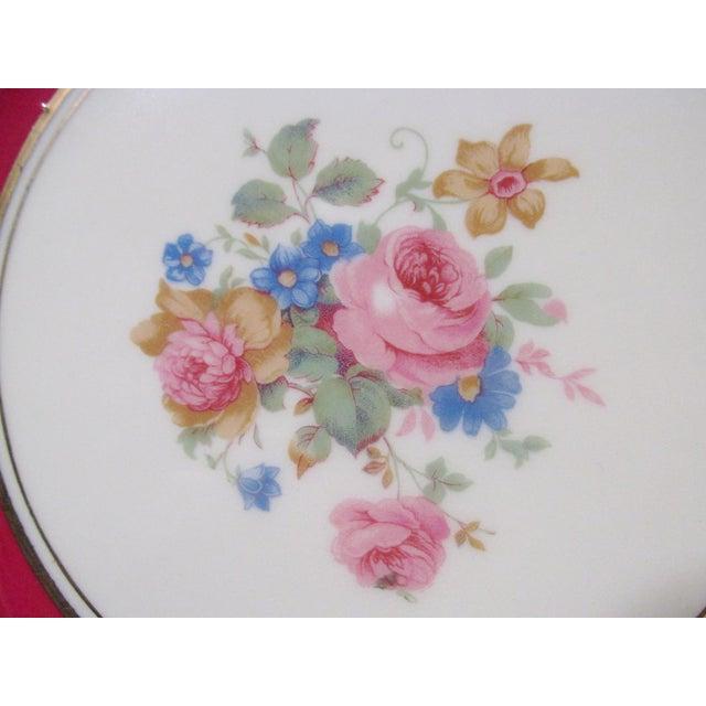 Early 20th Century Edgerton Pickard M&r Marks & Rosenfeld Pink Rose Spray Dessert Plates - Set of 24 For Sale - Image 5 of 11