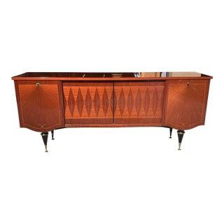 1940s Art Deco Macassar Ebony Sideboard/Credenzas /Bar For Sale