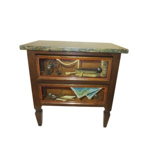 Trompe l'Oeil Mid Century 1970's Hickory Chair Collector's MIX Miniature Chest For Sale