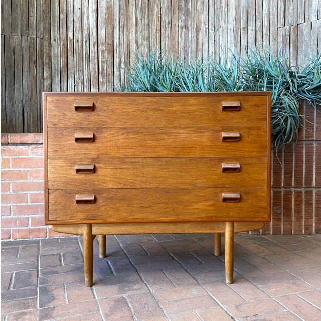 1950s Børge Mogensen for Søborg Danish Modern Teak Chest For Sale - Image 12 of 12
