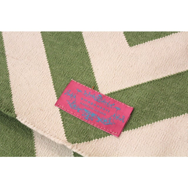 """Madeline Weinrib Green """"Lupe"""" Rug - 9' x 12' For Sale In San Francisco - Image 6 of 6"""