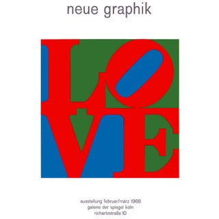Pop Art Love Neue Graphik Exhibition Poster by Robert Indiana For Sale
