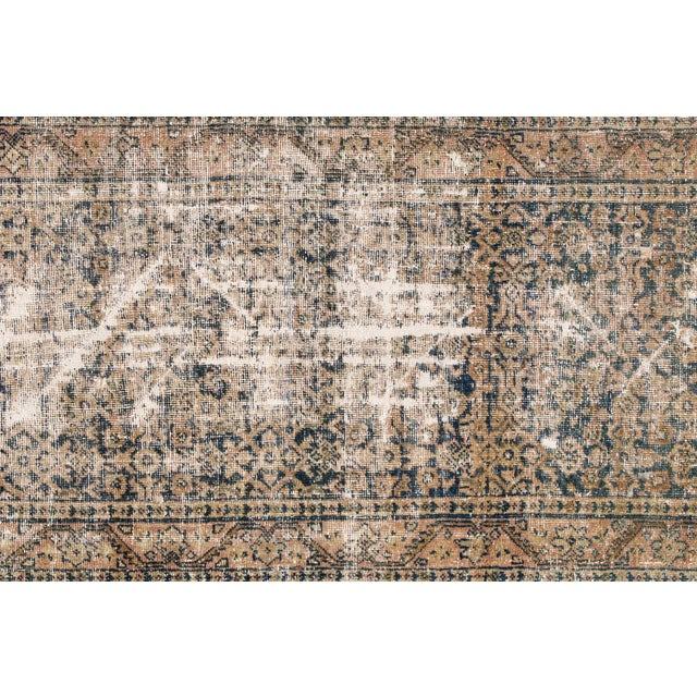 "1910s Apadana-Antique Persian Distressed Rug, 3'0"" X 11'7"" For Sale - Image 5 of 10"