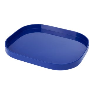Miles Redd Collection Large Stacking Tray in Cobalt Blue For Sale
