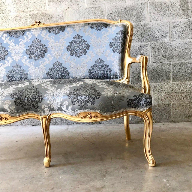 French 1960s Vintage Modern French Louis XVI Style Sofa For Sale - Image 3 of 6