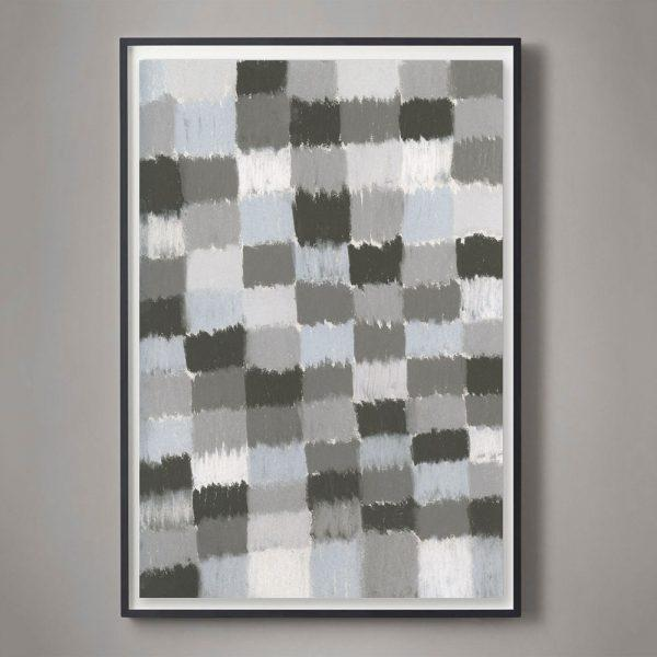 """Contemporary """"Soft Grids #1"""" Unframed Print For Sale - Image 3 of 3"""