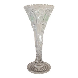 Vintage Glass Thumbprint Vase For Sale