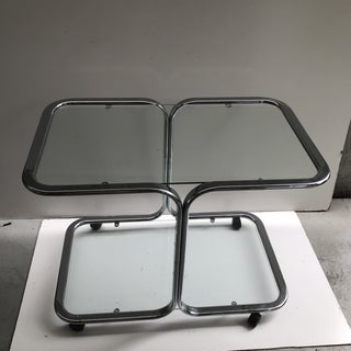 1970s Vintage Chrome and Glass Bar Cart Preview