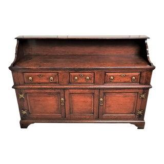 19th Century Georgian English Welsh Oak Cupboard For Sale