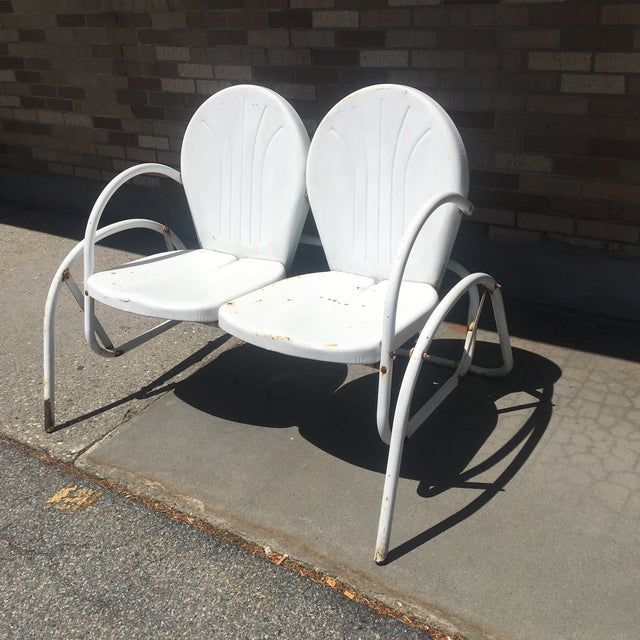 Originally designed in1946 by the late Ed Warmack of Fort Smith, Arkansas, these Art Deco inspired stamped steel chairs...