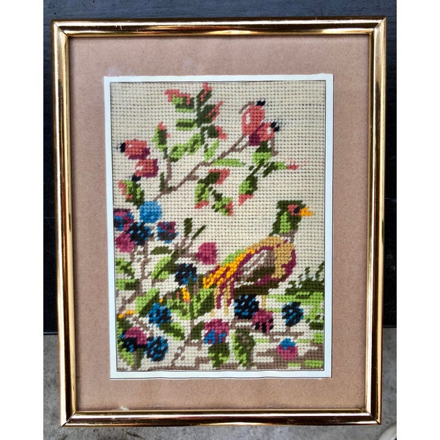 Multicolored Pheasant Needlepoint For Sale - Image 4 of 4