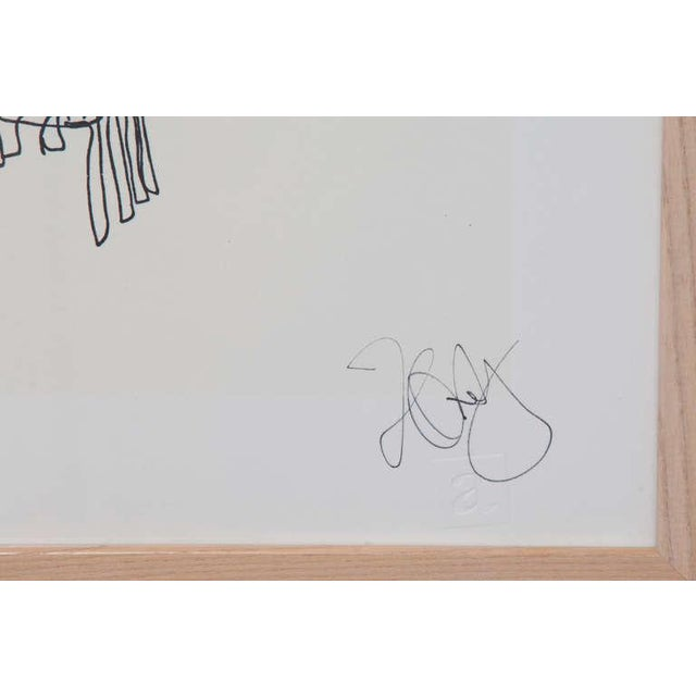 Rare signed lithograph by Frank Gehry from 1981. This example comes from the collection of a former board member of the...