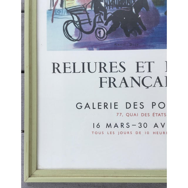 Vintage 1950s French Exhibition Poster by Raoul Dufy For Sale - Image 4 of 10