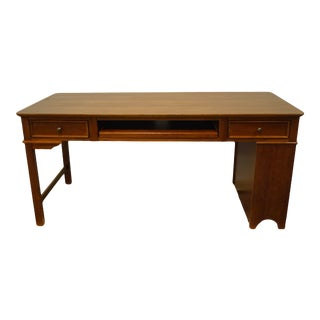 """Stanley Furniture Cherry Contemporary Modern 66"""" Writing Computer Office Desk For Sale"""