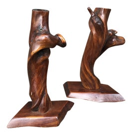 Image of Burnt Umber Candle Holders