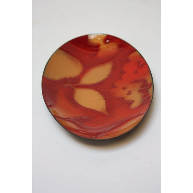 2000 - 2009 Tucker and Mackintosh Oval Enamel on Copper Plate For Sale - Image 5 of 11