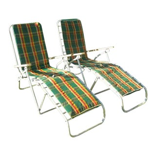 Vintage Mid Century Compacto Lounge Patio Outdoor Chairs- a Pair For Sale