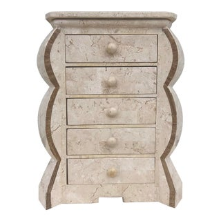 Vintage Tessellated Stone Jewelry Box After Maitland Smith For Sale