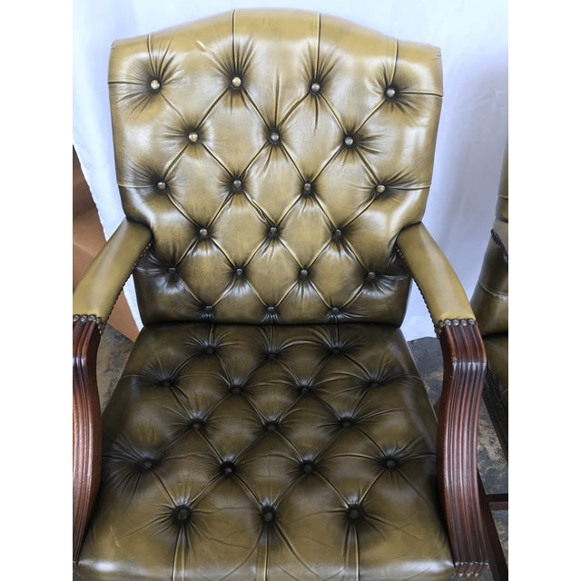 Chesterfield Guest Chairs - a Pair For Sale - Image 4 of 11