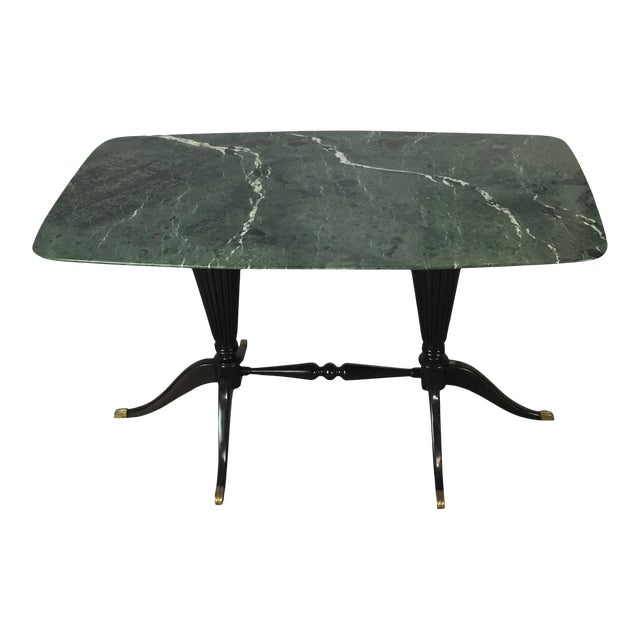 Paolo Buffa for Fratelli Cassina Marble Top Low Table For Sale
