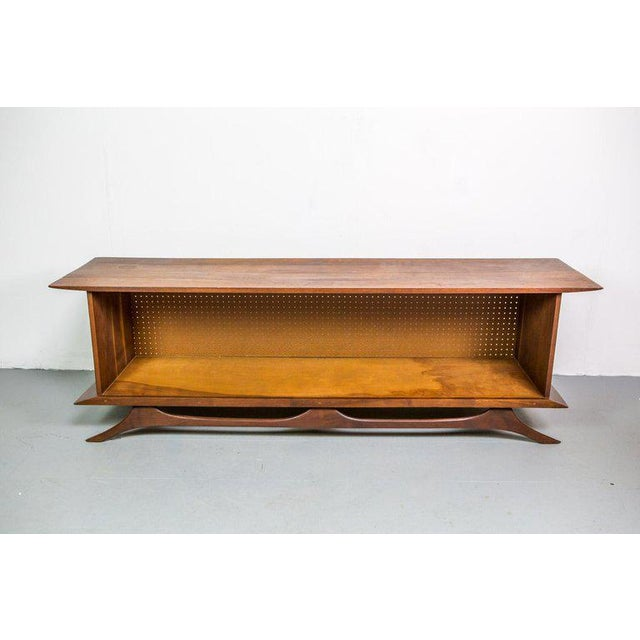 American Classical Sculpted Studio Cabinet or Credenza in Walnut For Sale - Image 3 of 7