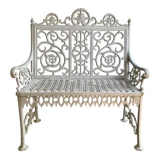 Antique Wrought Iron John McLean Garden Bench For Sale