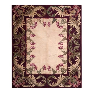 """Antique American Hooked Rug 7'8 X 9'5"""" For Sale"""
