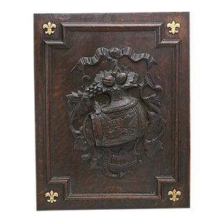 Antique Black Forest Carved Hanging Panel For Sale