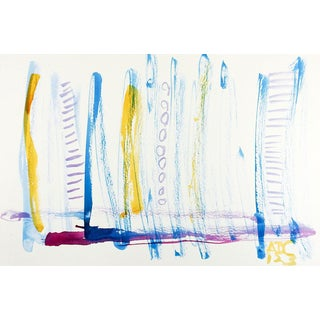 Colorful Watercolor Abstract Painting For Sale