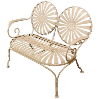 1930s Francois Carre French Sunburst Garden Bench Preview