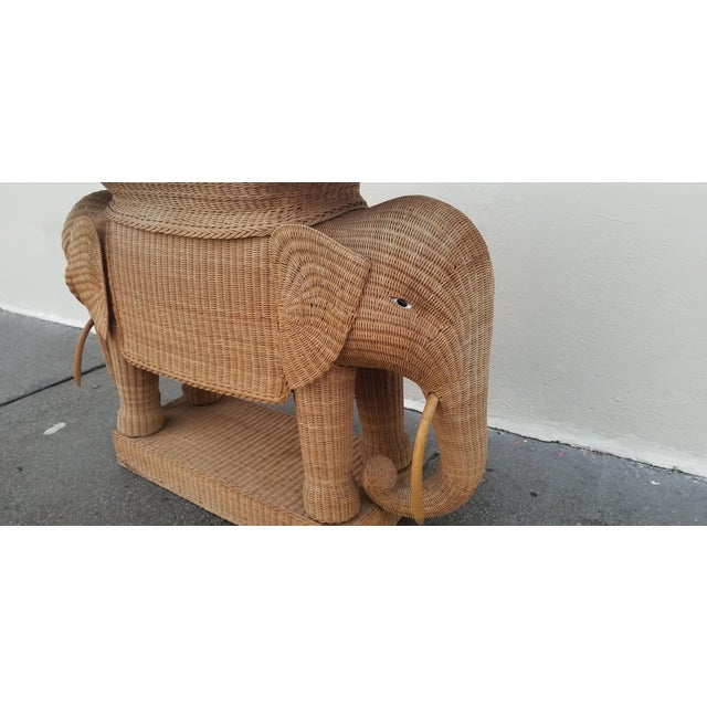 1980's Mario Torres Style Wicker Elephant Bar For Sale In New York - Image 6 of 8