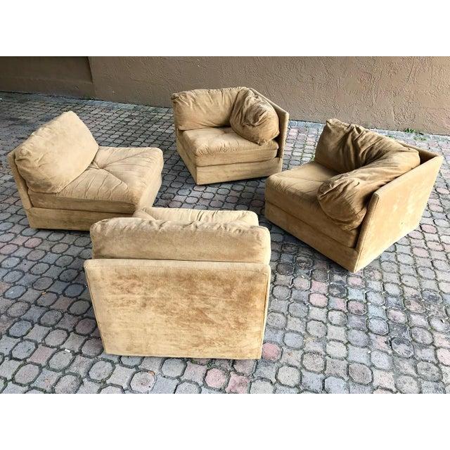 70′s Vintage 4pc Selig Modular Sectional Sofa Mid Century Modern Baughman  Era