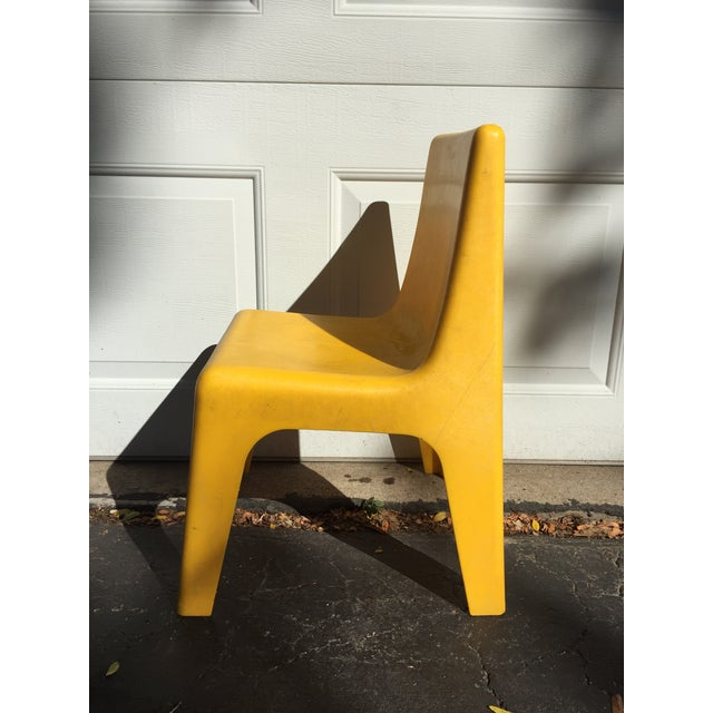 Modern Yellow Child's Chair - Image 5 of 8