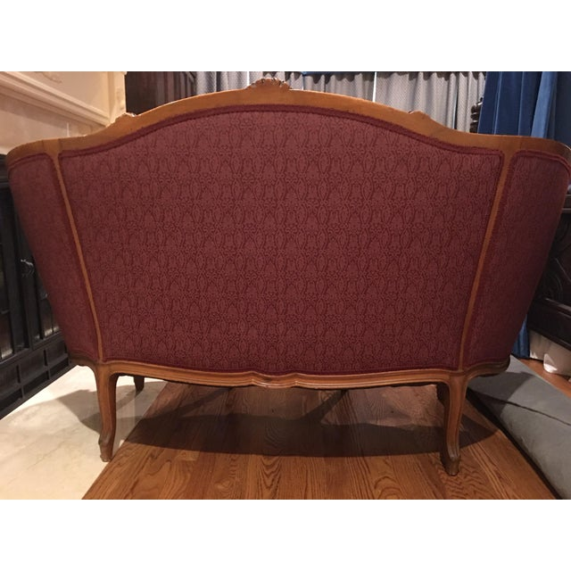 Late 20th Century Louis XV Style Settee For Sale - Image 4 of 7