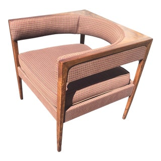 1960s John Van Koert Walnut Lounge Chair For Sale