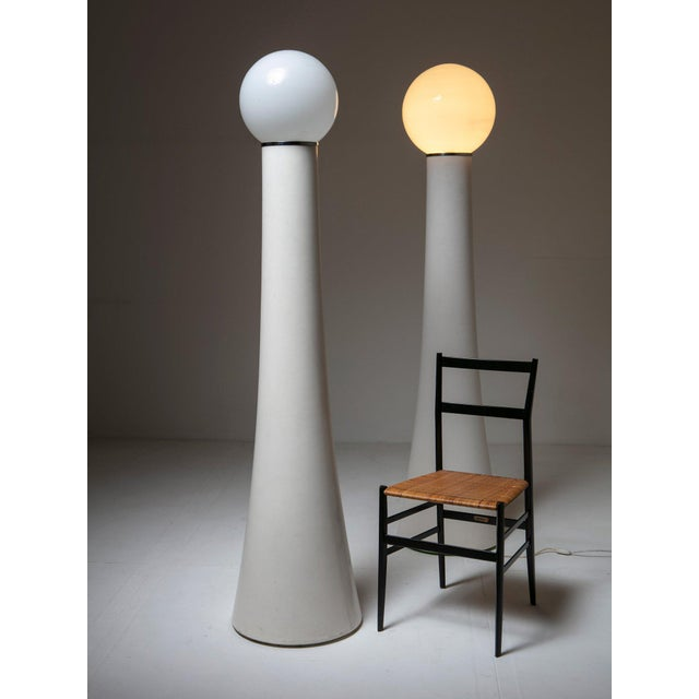 """Modern Set of Two Floor Lamps """"Kd59"""" by Annig Sarian for Kartell For Sale - Image 3 of 4"""