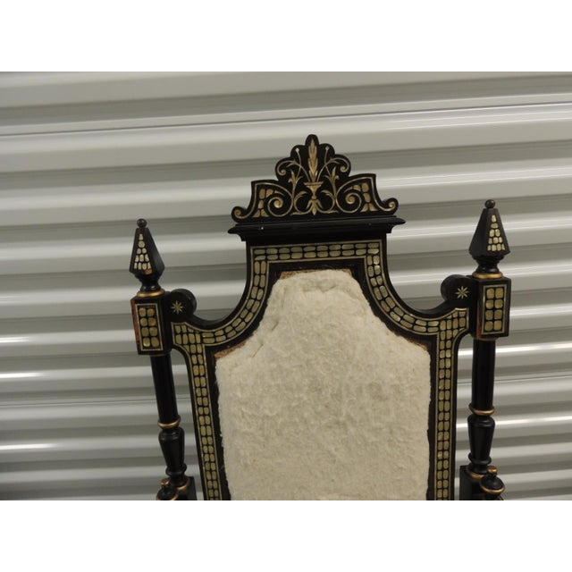 Vintage Moroccan Mother-Of-Pearl Inlaid Frame and Ebonized Wood For Sale In Miami - Image 6 of 12