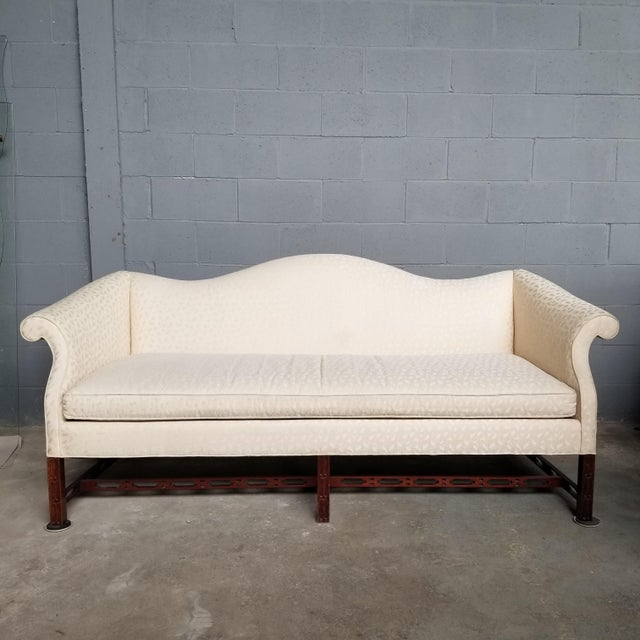 Hickory Chair Co Historic James River Collection Carved Chippendale Camelback Sofa For Sale - Image 13 of 13
