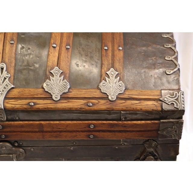 Late 19th-C. Tin Embossed Steamer Trunk - Image 3 of 10