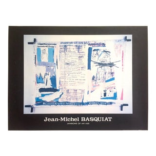 """Jean Michel Basquiat Estate Rare Vintage 1992 Collector's Lithograph Print Poster """" Jawbone of an Ass """" 1982 For Sale"""