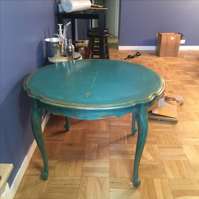 Vintage Distressed Dining Table - Image 6 of 7