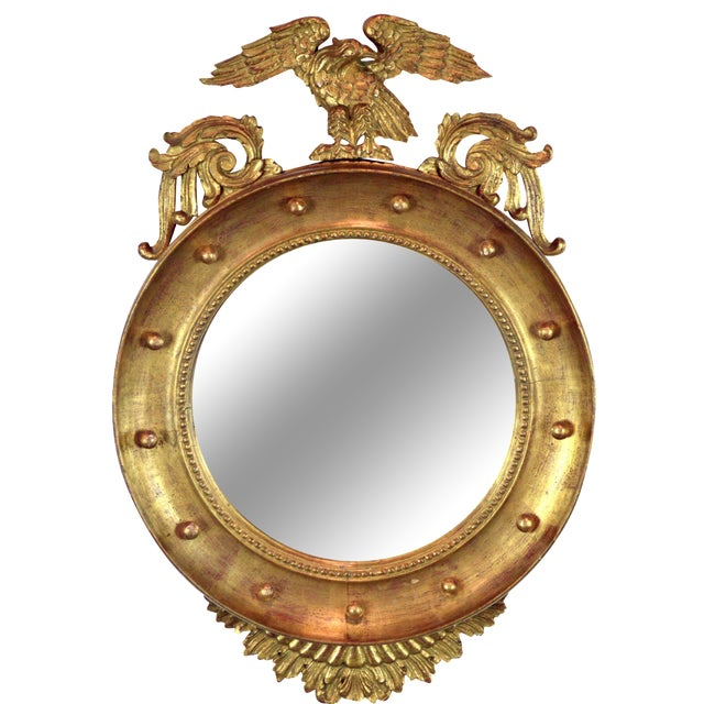 Federal-Style Gilt Convex Mirror - Image 1 of 8