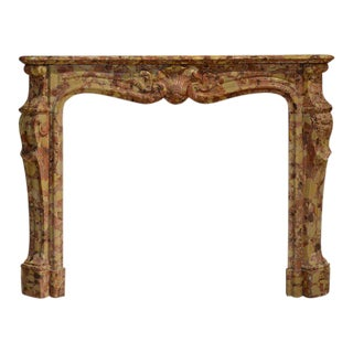 19th Century Breche d'allepe Louis XV Fireplace Mantel For Sale