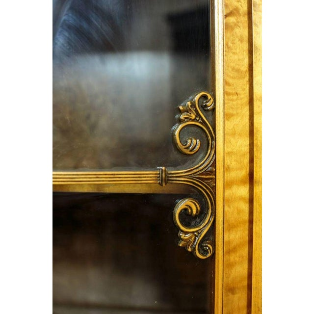 Brown 20th Century Bookcase in Birchen Veneer For Sale - Image 8 of 10