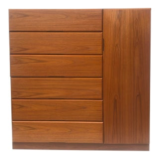 Vintage Modern Teak Armoire or Dresser For Sale