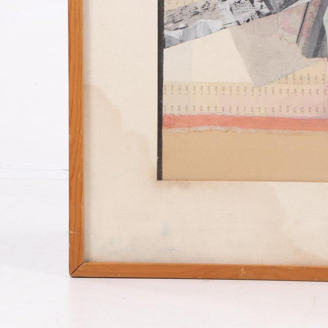 Abstract Vintage Abstract Mixed Media Collage For Sale - Image 3 of 7