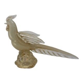 Vintage 1970s Barbini Murano Glass Pheasant For Sale